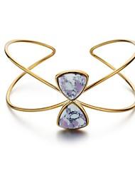 Žene Široke narukvice Jednostavan Ležerne prilike Moda Kamen Pozlaćeni Bowknot Shape Jewelry Za Spoj Izlasci