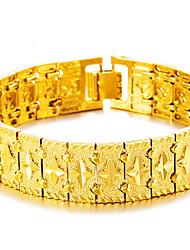 Miesten Rannerenkaat Rannekkeet Aasialainen Lahja Lovely Muoti Gold Plated Korut Käyttötarkoitus Häät Päivittäin
