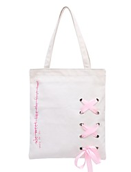 cheap -Women Bags Canvas Shoulder Bag Bow(s) for Shopping Casual All Seasons Black Blushing Pink