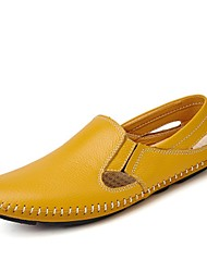 cheap -Men's Shoes PU Spring Fall Moccasin Comfort Loafers & Slip-Ons For Casual Blue Yellow Black White