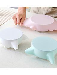 1pc силиконовая всасывающая крышка-чаша для кастрюли с подогревом многоразовая эластичная крышка случайный цвет
