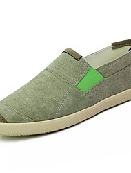 cheap -Men's Shoes Canvas Summer Comfort Loafers & Slip-Ons For Casual Blue Brown Gray