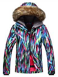 cheap -GSOU SNOW Women's Ski Jacket Warm, Waterproof, Windproof Skiing Eco-friendly Polyester, Silk Cloth Down Jacket Ski Wear