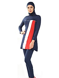 cheap -Women's Color Block Tankini Swimwear Black Navy Blue Light Blue