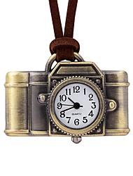 Недорогие -Жен. Карманные часы Китайский Кварцевый Повседневные часы Кожа Группа На каждый день Коричневый