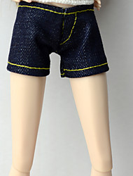cheap -Stylish Pants Cowboy Shorts & Pants & Leggings For Barbie Doll Dark Navy Pants For Girl's Doll Toy