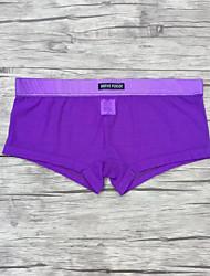 Homens Sexy Boxer Briefs Underwear suave Men Confortável malha gaze Shorts