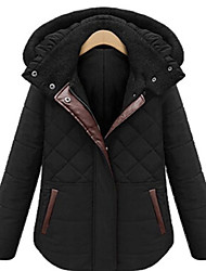 cheap -Women's Regular Parka Coat,Casual Daily To-Go Solid-Cotton Long Sleeves
