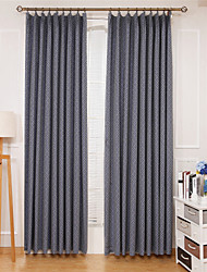 Rod Pocket Grommet Top Tab Top Double Pleat Curtain Formal Casual Modern , Jacquard Lattice Bedroom Polyester Blend Material Curtains