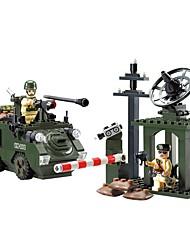Недорогие -ENLIGHTEN Конструкторы 187pcs Классика Воин Танк Non Toxic Люди Армия Танк Мальчики Игрушки Подарок