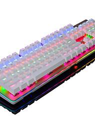Недорогие -ajazz-ak49 компьютерная клавиатура rgb подсветка игра 104 - клавиатура usb черная ось