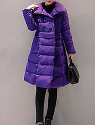 Women's Padded Coat,Casual Active Daily To-Go Solid-Polyester Long Sleeves