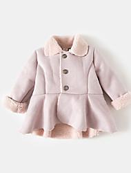 Girls' Solid Jacket & Coat