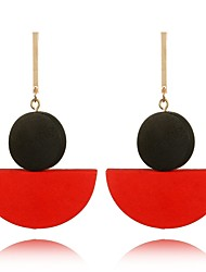 cheap -Women's Drop Earrings , Bohemian Sweet Wooden Circle Jewelry For Gift Date