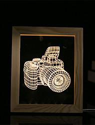 cheap -1 Set Of 3D Mood Night Light LED Lights USB Bedroom Photo Frame Lamp Gifts Camera