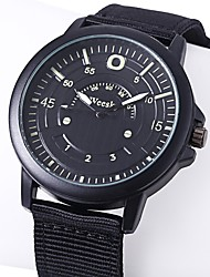 baratos -Homens Relógio Elegante Relógio de Moda Relógio Casual Chinês Quartzo Relógio Casual Náilon Banda Casual Legal Preta