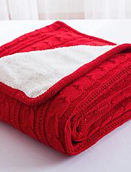 Недорогие -Супер мягкий, Ручная работа Однотонный Полиэстер одеяла