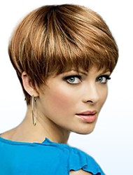 cheap -Human Hair Capless Wigs Human Hair Straight Side Part Short Machine Made Wig Women's