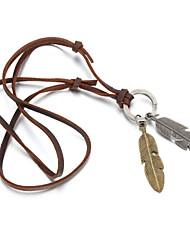 Недорогие -Муж. Ожерелья с подвесками Геометрической формы Кожа Медь Сплав бижутерия Бижутерия Назначение Повседневные Спорт Новогодние подарки