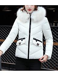 Dámské Standardní S vycpávkou Šik ven Běžné/Denní Jednobarevné-Kabát Bavlna Dlouhý rukáv