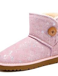 preiswerte -Damen Schuhe Wildleder Winter Flaum Futter Schneestiefel Stiefel Ski-Schuhe Mittelhohe Stiefel Booties / Stiefeletten für Normal Draussen
