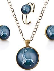economico -Per donna Set di gioielli Classico Vintage Stile Boho Colorato Feste Serata Vetro Lega
