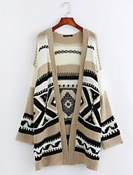 cheap -Women's Holiday Boho Long Sleeve Long Cardigan - Striped / Geometric / Fall / Winter
