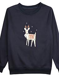 billige -Dame I-byen-tøj Sweatshirt Trykt mønster Bomuld