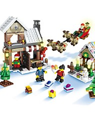 cheap -Building Blocks Toys House Carousel Merry Go Round Houses Cute USB Kids 741 Pieces