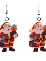 abordables -Femme Adorable Boucles d'oreille goutte - simple Argent , Des boucles d'oreilles Pour Noël