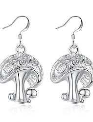preiswerte -Damen Tropfen-Ohrringe Einfach Retro Grundlegend Rock Hiphop Süß Elegant Schmuck mit Aussage Kupfer versilbert Geometrische Form Schmuck