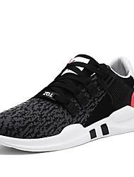 Obuv PU Jaro Podzim Pohodlné Atletické boty pro Sportovní Ležérní Bílá Černobílá Černočervená