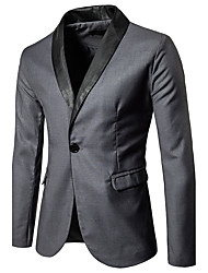 Men's Daily Wear Casual/Daily Casual Spring Fall Blazer