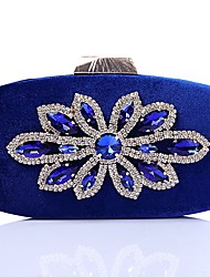 cheap -Women Bags Velvet Evening Bag Crystal Detailing for Wedding Event/Party All Season Blue Gold Black Red