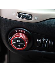 Недорогие -автомобильный Крышки кнопок фар Всё для оформления интерьера авто Назначение Jeep Все года Cherokee Алюминиевый сплав