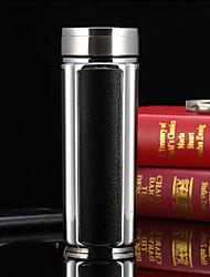 Escritório/Carreira Artigos para Bebida, 350 Vidro Orgânico Aço Inoxidável chá Água Garrafas de Água