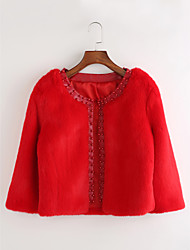 Women's Casual/Daily Casual Fall Winter Coat