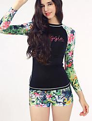 cheap -Women's Multi Color One-piece Swimwear Black