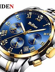 Недорогие -BIDEN Муж. Кварцевый Наручные часы Китайский Календарь / Защита от влаги сплав Группа Роскошь / Винтаж / На каждый день / Мода Черный /