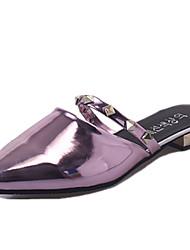 Women's Shoes PU Summer Comfort Sandals Low Heel For Outdoor Gold Black Fuchsia Silver Blue