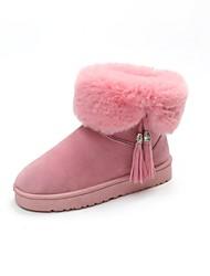 Недорогие -Для женщин Обувь Полиуретан Осень Зима Модная обувь Меховая подкладка Флисовая подкладка Зимние сапоги Ботинки Закрытый мыс Сапоги до