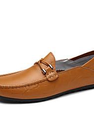 abordables -Homme Chaussures Similicuir Printemps Eté Confort Mocassins et Chaussons+D6148 pour Décontracté Noir Jaune Brun Foncé