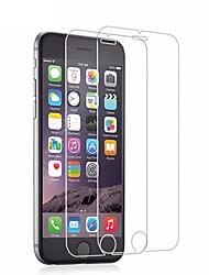 Недорогие -AppleScreen ProtectoriPhone 6s HD Защитная пленка 2 штs Закаленное стекло / Уровень защиты 9H / 2.5D закругленные углы / Ультратонкий