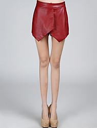 Недорогие -Для женщин Секси Уличный стиль Для улицы Офис Асимметричный вырез Подол,Culotte Сексуальные платья Однотонный Сексуальные платья Мода Все