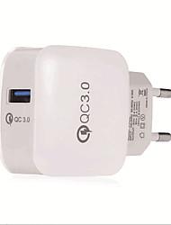 gocomma qc 3.0 chargeur adaptateur secteur - eu plug blanc et noir