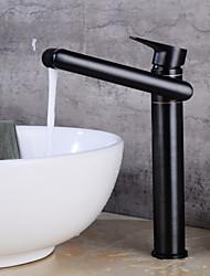 abordables -Moderne Set de centre Pattes de lion Soupape céramique Mitigeur un trou Noir, Robinet lavabo