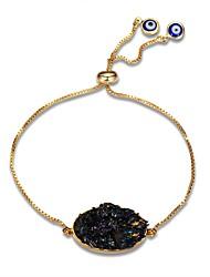 abordables -Mujer Cadenas y esclavas Obsidiana Clásico Casual De Gran Tamaño Moda Europeo Gema Chapado en Oro Forma de Círculo Forma Geométrica Joyas