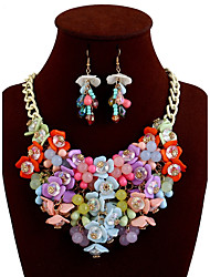 cheap -Women's Statement Jewelry Daily Evening Party Resin Alloy Flower Necklace Earrings
