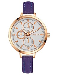 cheap -Women's Unique Creative Watch Wrist watch Bracelet Watch Chinese Quartz Large Dial PU Band Casual Colorful Elegant Black White Blue Red