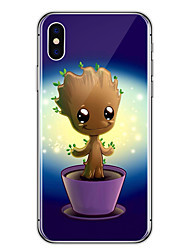 For iPhone X iPhone 8 Case Cover Transparent Pattern Back Cover Case Cartoon Tree Soft TPU for Apple iPhone X iPhone 8 Plus iPhone 8